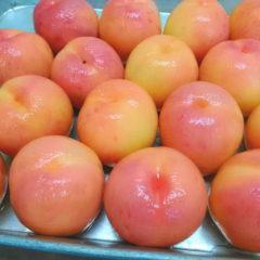 丸ごと桃用の剥きたて桃