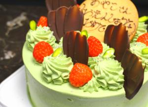 ベルジュールの抹茶誕生日ケーキ